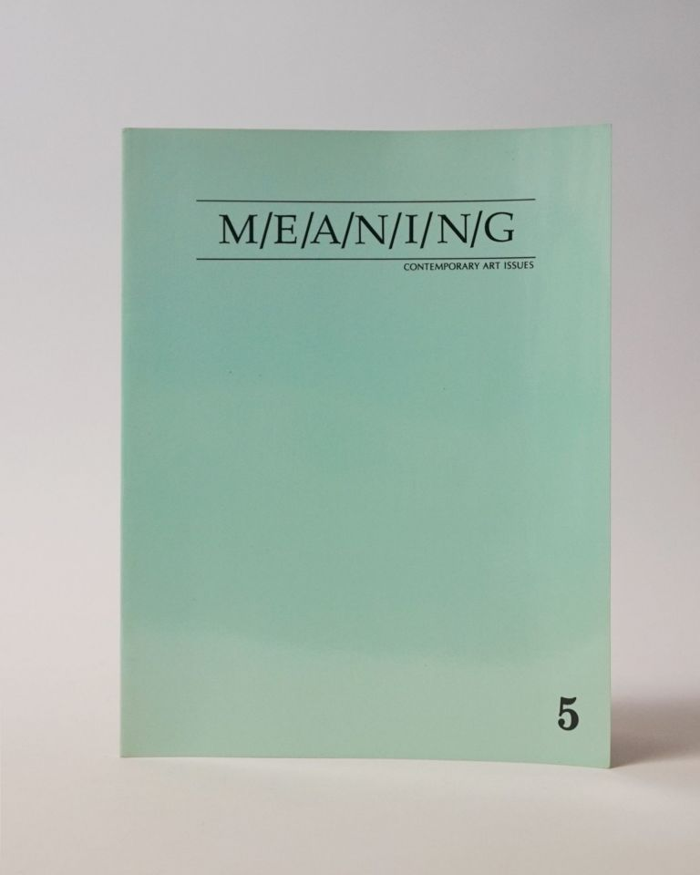 Meaning: Contemporary Art Issues. Susanna Heller.