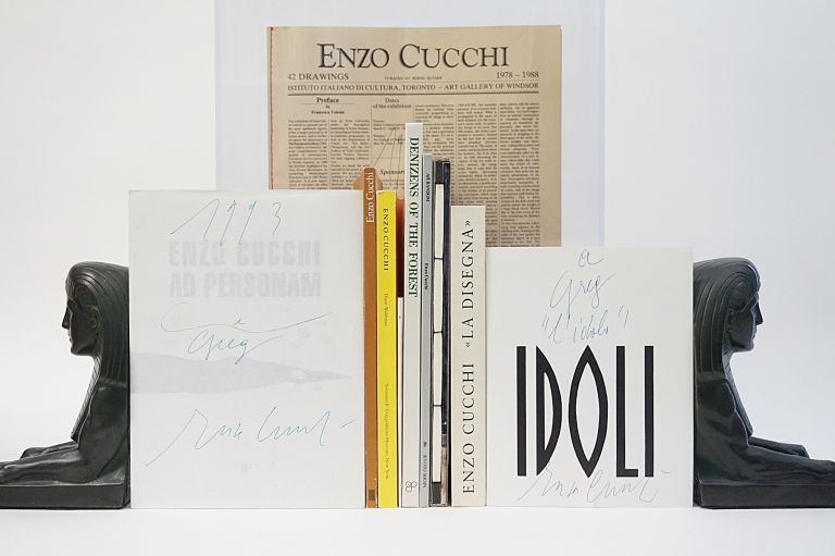 10 by Cucchi. Collection of 10 Books, all Signed or Inscribed by Enzo Cucchi. Enzo Cucchi.
