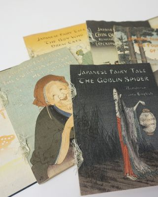 Japanese Fairy Tales. Printed in color by hand from Japanese wood blocks. Includes: The Boy who...