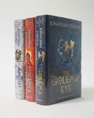 The Bartimaeus Trilogy. The Amulet of Samarkand; The Golem`s Eye; Ptolemy`s Gate. Jonathan Stroud