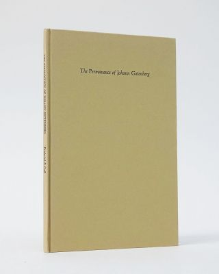 The Permanence of Johann Gutenberg. Frederick R. Goff