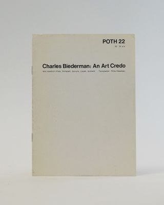Poor. Old. Tired. Horse. POTH 22. Charles Biederman: An Art Credo. Ian Hamilton Finlay, Charles...