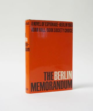 The Berlin Memorandum. Adam Hall