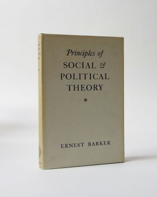 Principles of Social & Political Theory. Ernest Barker