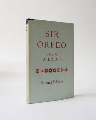 Sir Orfeo. A. J. Bliss, ed