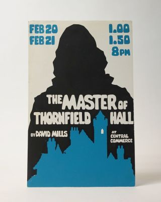 The Master of Thornfield Hall. Silkscreen poster for a theatrical production. David Mills
